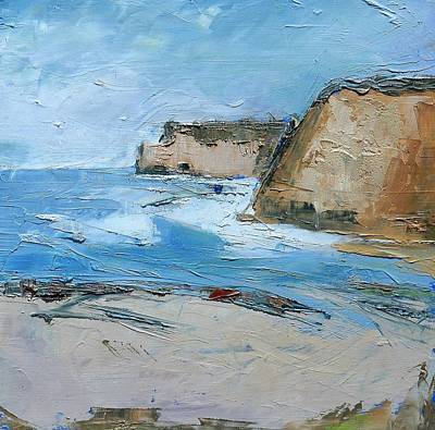 Poster featuring the painting Ocean Cliffs by Gary Coleman