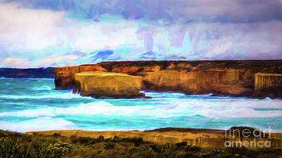 Poster featuring the photograph Ocean Cliffs by Perry Webster