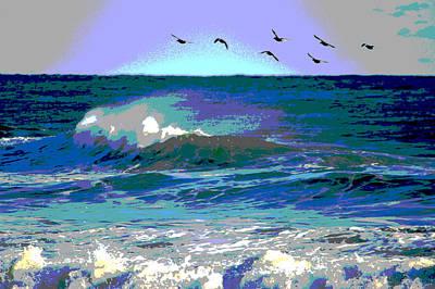 Ocean Flight Poster by Dianne Cowen