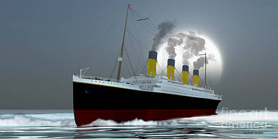 Ocean Liner Poster by Corey Ford
