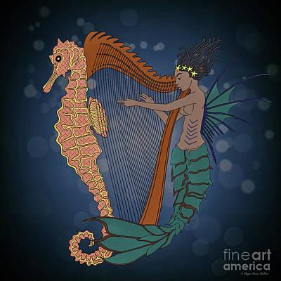 Poster featuring the digital art Ocean Lullaby1 by Megan Dirsa-DuBois