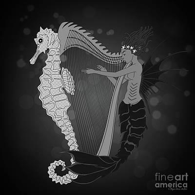 Poster featuring the digital art Ocean Lullaby2 by Megan Dirsa-DuBois