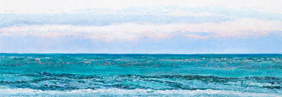 Ocean Painting - Emerald Green Poster