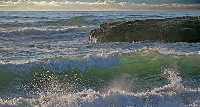 Poster featuring the photograph Crashing Waves by Elvira Butler