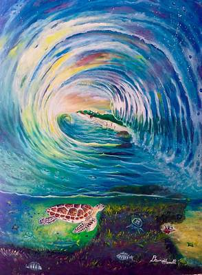 Ocean Reef Beach Poster by Dawn Harrell