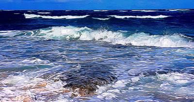 Ocean Scene In Abstract 14 Poster