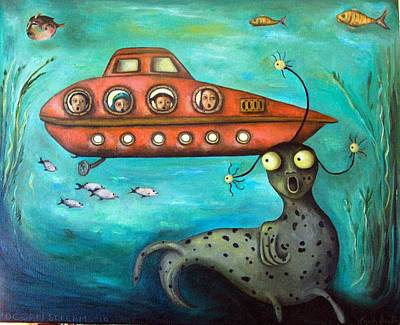 Ocean Screams Poster by Leah Saulnier The Painting Maniac