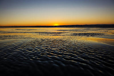 Ocean Shores Sunset Poster
