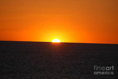 Poster featuring the photograph Ocean Sunset by Frank Stallone