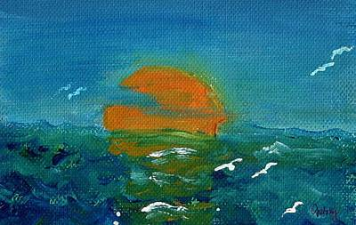 Ocean Sunset Poster by Paintings by Gretzky