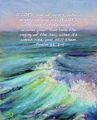 Ocean Symphony With Bible Verse Poster