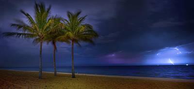 Ocean Thunderstorm Poster by Mark Andrew Thomas