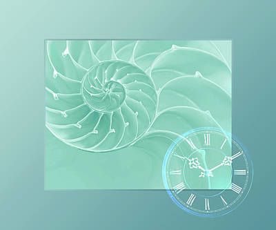 Ocean Time Poster by Gill Billington