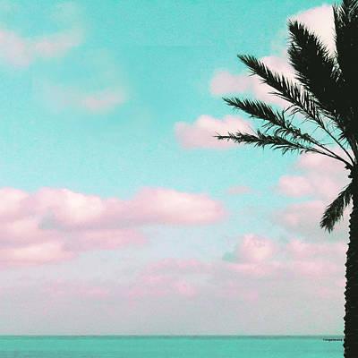 Ocean View Pink Clouds Poster by Inge Lewis