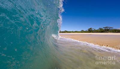 Ocean Wave Barrel Poster by Dustin K Ryan
