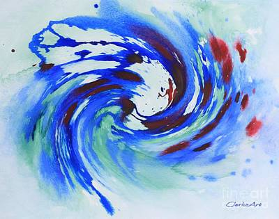 Ocean Wave Watercolor Poster