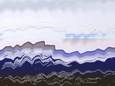Ocean Waves Poster by Lenore Senior