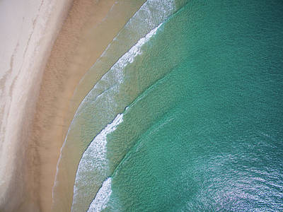 Ocean Waves Upon The Beach Poster