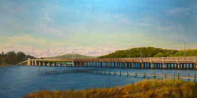 Poster featuring the painting Oceanic Bridge by Joe Bergholm