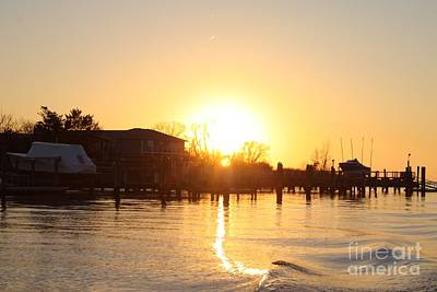 Oceanside Ny Spring Sunset After Fishing Poster
