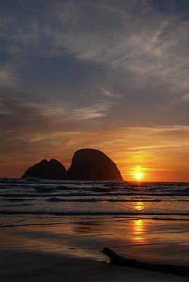 Oceanside Sunset 4 Poster