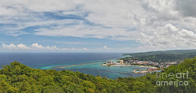 Ocho Rios Panorama From Mystic Mountain Poster by Charles Kozierok