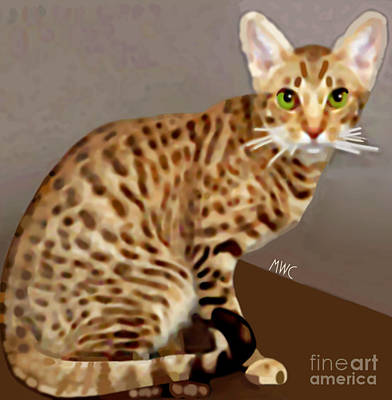 Poster featuring the painting Ocicat by Marian Cates