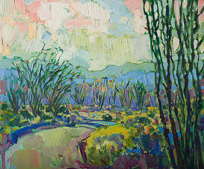 Poster featuring the painting Ocotillo Forest by Erin Hanson