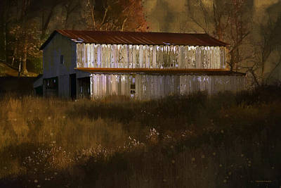October Barn Poster by Ron Jones