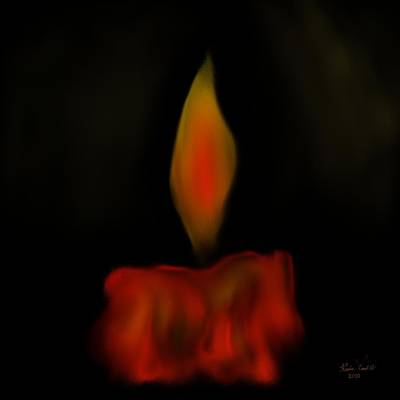 Poster featuring the painting October Flame by Kevin Caudill