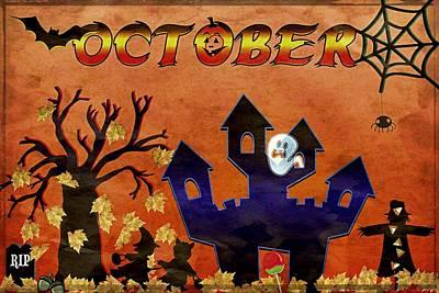 October - Grunge Poster