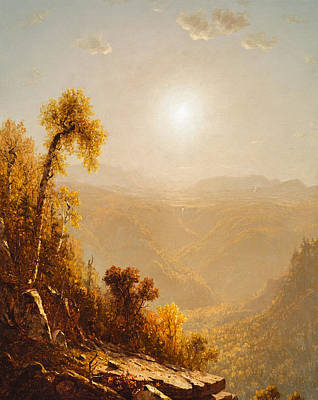 October In The Catskills Poster by Sanford Robinson Gifford