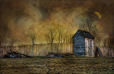 October Outhouse Poster by Robin-Lee Vieira