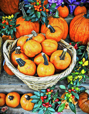 Poster featuring the photograph October Pumpkins by Joan Reese