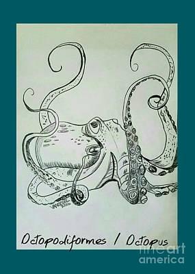 Octopodiformes Octopus Poster by Scott D Van Osdol