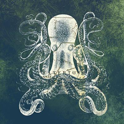 Octopus Watertown Mass Poster by Brandi Fitzgerald