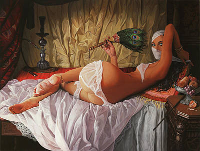 Odalisque Poster by Adrian Borda