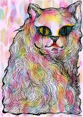 Odd-eyed Cat Poster by Akiko Okabe