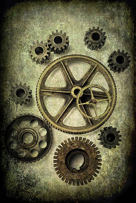 Odd Gears Poster by Garry Gay