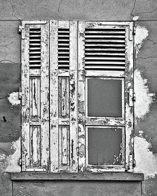 Poster featuring the photograph Odd Pair - Shutters by Nikolyn McDonald