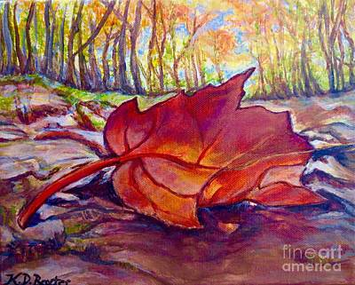 Poster featuring the painting Ode To A Fallen Leaf Painting by Kimberlee Baxter