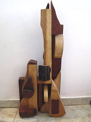 Poster featuring the sculpture Ode To A Guitar by Esther Newman-Cohen