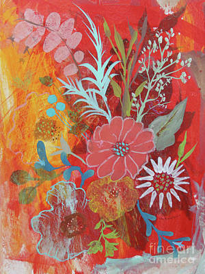 Poster featuring the painting Ode To Spring by Robin Maria Pedrero