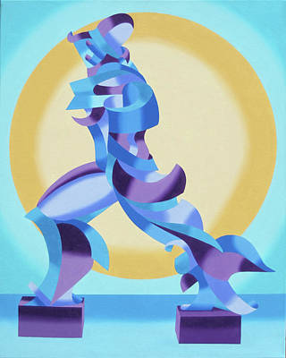 Ode To Umberto Boccioni Poster by Mark Webster