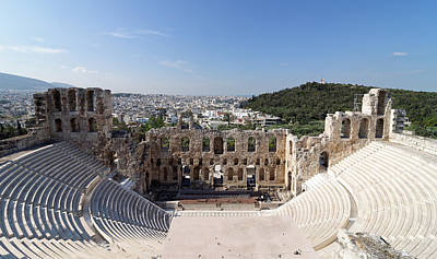 Odeon Of Herodes Atticus -- Ancient Amphitheater In Athens, Greece Poster