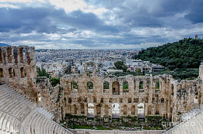 Odeon Of Herodes Atticus - Athens Greece Poster by Debra Martz