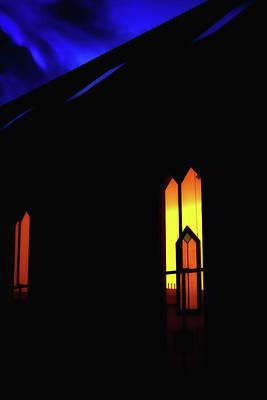 Oella Church Window At Dusk Poster