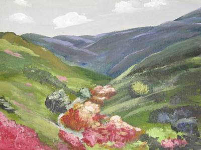 Poster featuring the painting Of Mountains And Valleys by Trilby Cole