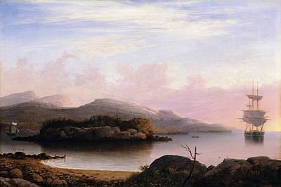 Off Mount Desert Island Poster by Fitz Henry Lane