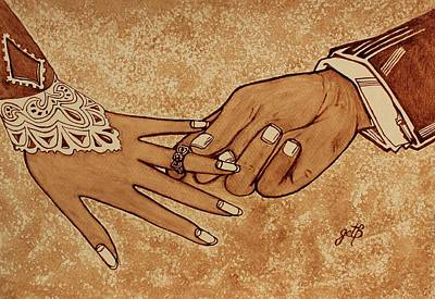 Offering Engagement Ring Poster by Georgeta  Blanaru